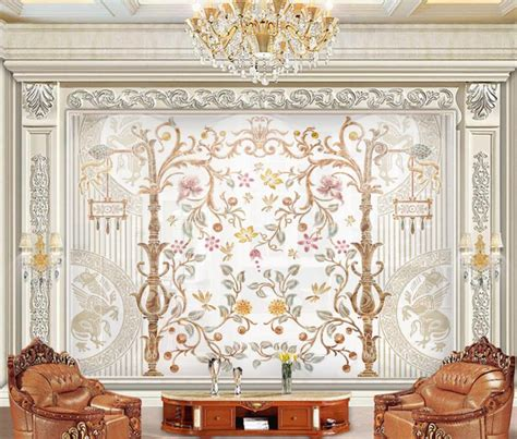 wall murals modern color carving stereoscopic wallpaper