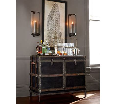 pottery barn kitchen cabinets ludlow trunk bar cabinet pottery barn 4375