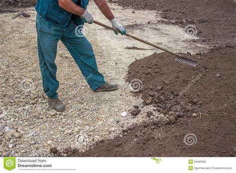 yard leveling work 3 stock image image of heavy grass