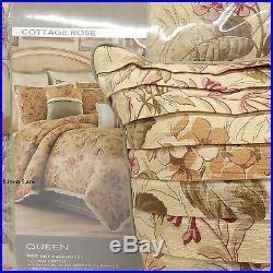 croscill cottage rose queen comforter set pc vintage