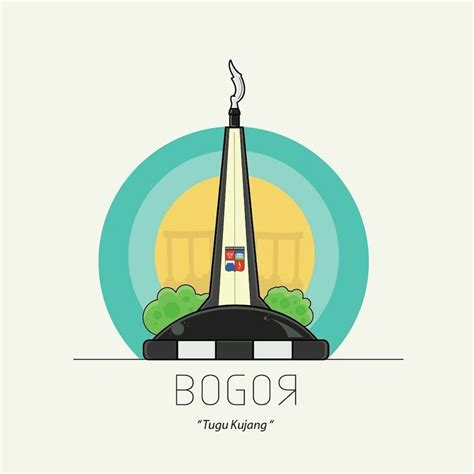logo tugu kujang bogor  adobe illustrator follow