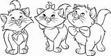 Coloring Pages Cat Disney Aristocats Cartoon Marie Tk Coloringpage Animated Kitty Length sketch template