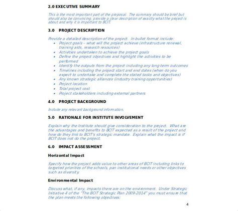 simple business proposal templates word