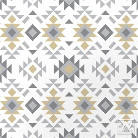 Brown And Teal Living Room Designs by Tribal Aztec Print Pattern Removable Wallpaper Diy Decor