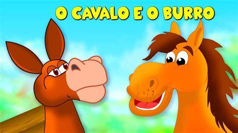 O Cavalo E O Burro - História Infantil