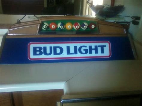 budweiser pool table light vintage bud light pool table l ebay