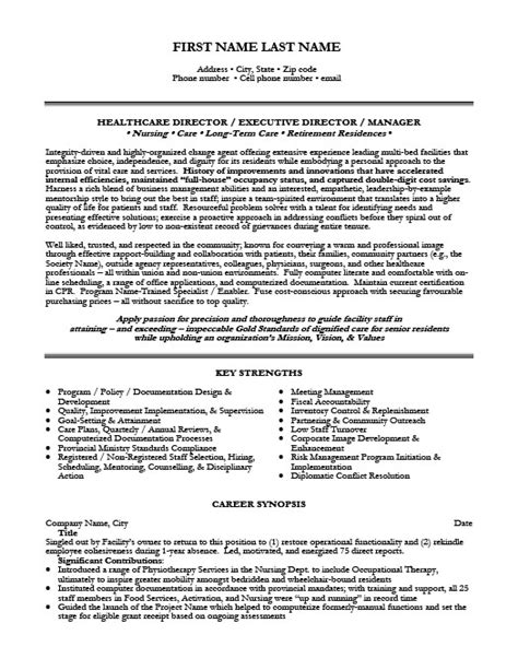 Healthcare Resume Templates by Health Care Director Resume Template Premium Resume