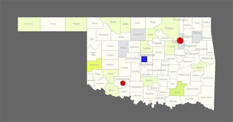 interactive map  oklahoma clickable counties cities