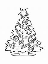 Tree Christmas Coloring Pages Presents Printable Holiday Getcoloringpages sketch template