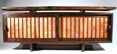 designer credenza custom modern mid century credenza walnut live edge by