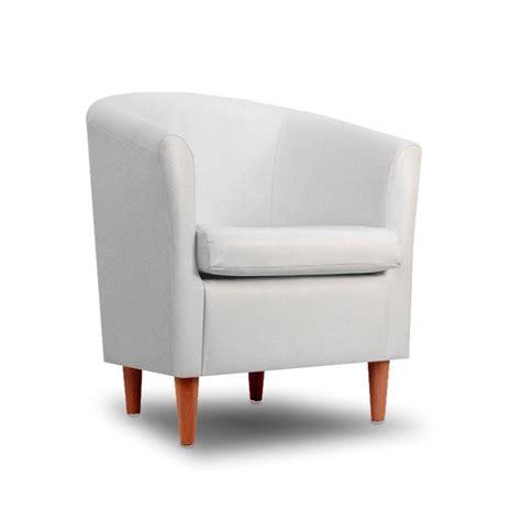 leather tub chair white