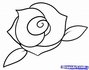 How to Draw a Rose for Kids, Step by Step, Flowers For ...