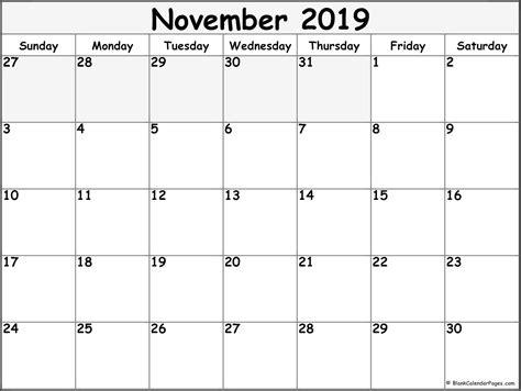 november  blank calendar collection