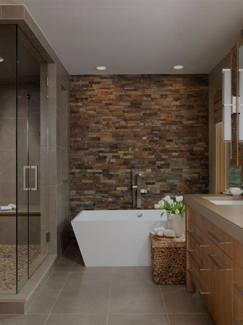 bathroom shower wall ideas accent wall ideas bathroom contemporary with brown tile