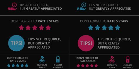 Uber Tip Sign: Professionally Designed [Free Download