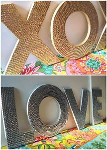 sequin letters diy projects to try pinterest With large foam core letters