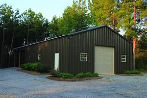Metal roof on pole barn for Aluminum pole barn