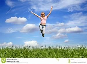 Frau Im Bild : springende frau im freien stockbild bild von schlag erwachsene 2190757 ~ Eleganceandgraceweddings.com Haus und Dekorationen