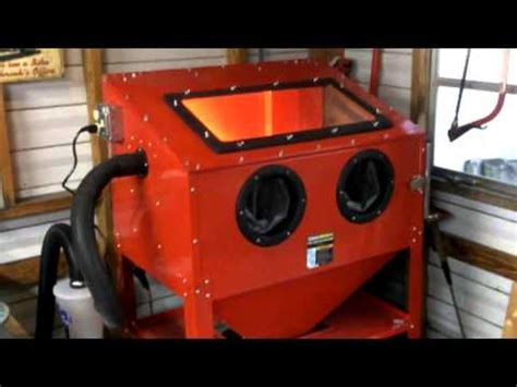 Harbor Freight Sand Blasting Cabinet Mods by Finished My Harbor Freight Blast Cabinet Mods
