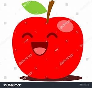 Red Apple Cute Cartoon Stock Vector 334375766 - Shutterstock