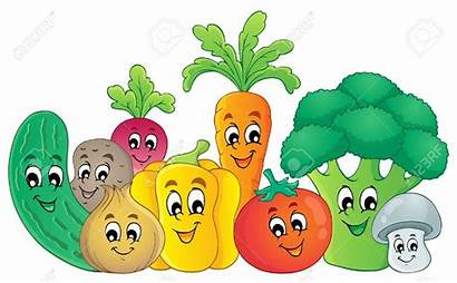 Healthy Cartoon Foods Vegetables Clipart Clip Vegetable
