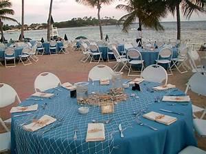 Decoration ideas for the beach wedding weddingelation for Beach wedding reception ideas
