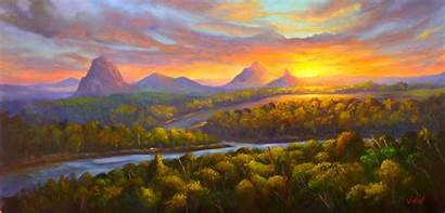 Mountains Sunset Glasshouse Queensland Vidal Christopher