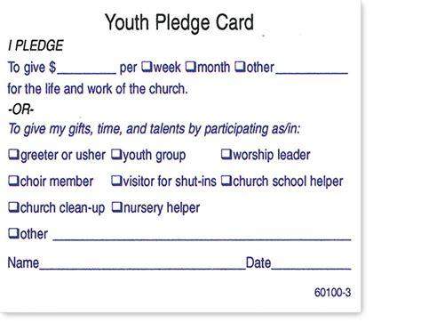 hubbard press standard pledge cards
