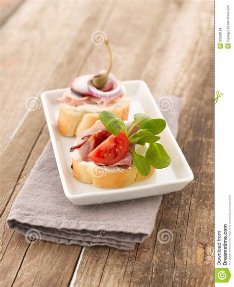 ham canapes turkey ham canapes royalty free stock images image 30358199