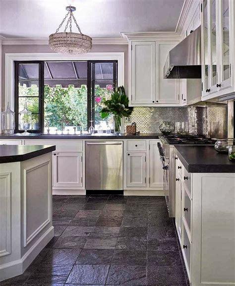 picture  deniot kitchen slate flooring  white