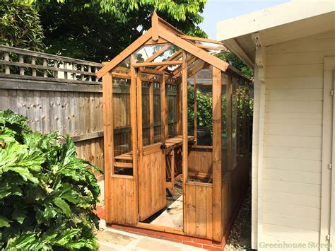 cotswold small  wooden greenhouse gardening wooden