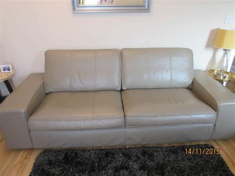 Ikea Settees Uk by Ikea Three Seater Leather Settee In Livingston West