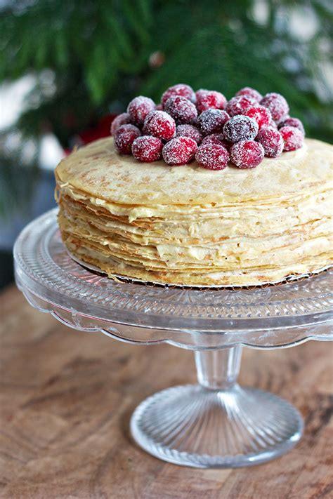 recipes  love sugared cranberry crepe cake