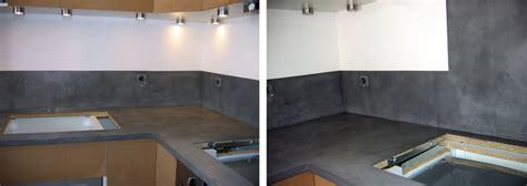 plan de travail cuisine béton ciré beton cire pour plan de travail decoration 22 aug 17 12