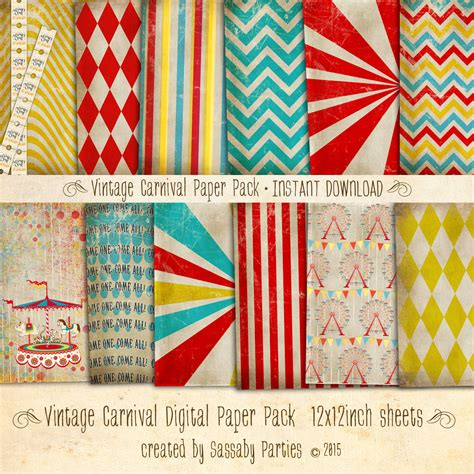 vintage carnival party collection