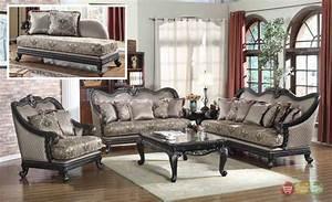 Traditional Formal Living Room Furniture Sofa Dark Wood
