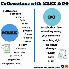 Collocations Make And Do  Beginning English  Pinterest  Graphics, Homework And Facebook