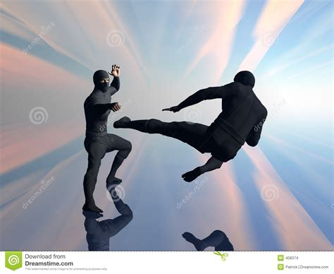 Two Ninja In Fight 2. Stock Images - Image: 408374