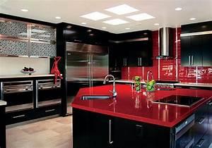 Meuble De Maison : meubles noir pour une cuisine deco maison moderne ~ Teatrodelosmanantiales.com Idées de Décoration