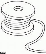 Coloring Wire Cable Pages Spool Reel Tools Utensils Chase Designlooter Tape Oncoloring Measure Games 1kb 276px sketch template