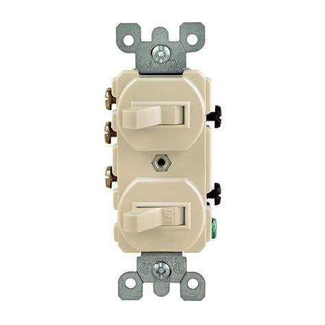 leviton  amp   double toggle switch ivory  iks