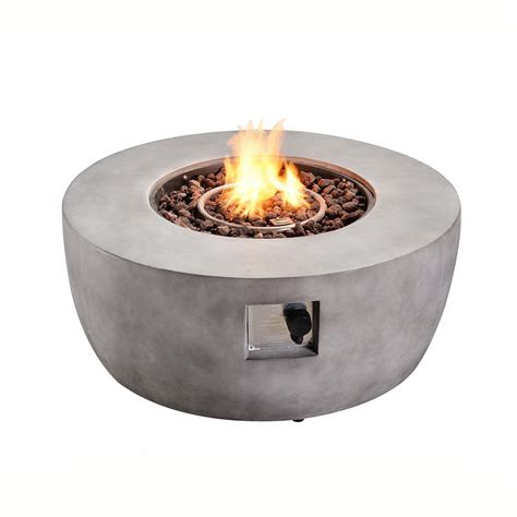 """Check spelling or type a new query. Peaktop Outdoor 36"""" Round Concrete Gas Fire Pit - Walmart.com - Walmart.com"""