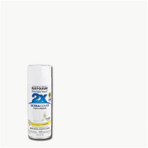 rust oleum painter s touch 2x 12 oz gloss white general purpose spray paint 249090 the home depot