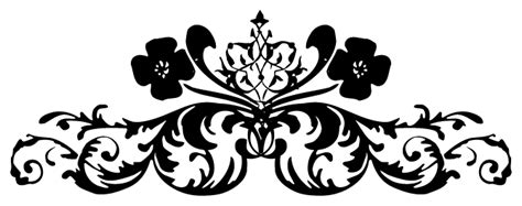 Black Design Png by Flower Black And White Transparent Png Pictures Free