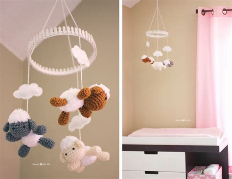 baby nursery diy decorating ideas repeat crafter me crochet mobile doesnt exactly go