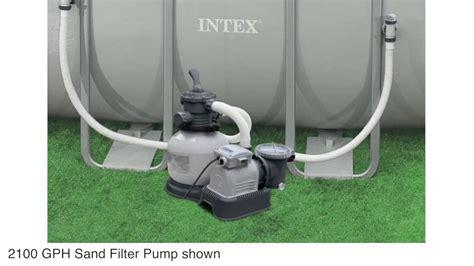 Intex 2100 Gph Sand Filter Pool Pump With Gfci