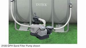 Intex 2100 Gph Sand Filter Pool Pump With Gfci