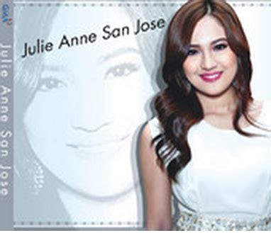 julie anne san jose let me be the one lyrics julie anne san jose s album debuts at number 1 on itunes