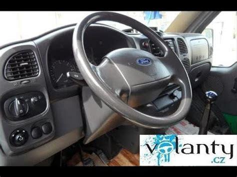demontage du volant airbag ford transit   youtube