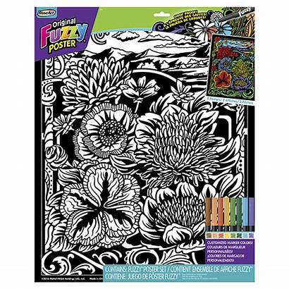 Fuzzy Posters Americana Poster Roseart Coloring Rose